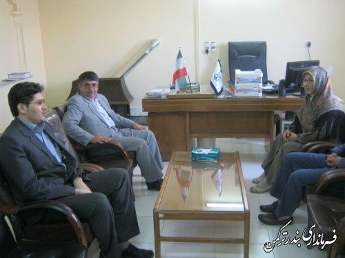 بازدید فرماندار از اداره ثبت اسناد و املاک شهرستان