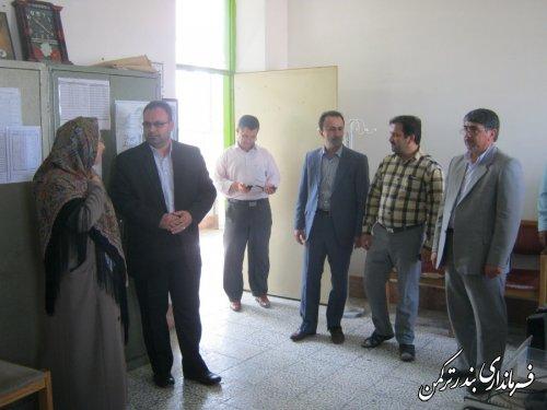 بازدید فرماندار از اداره آموزش و پرورش شهرستان ترکمن