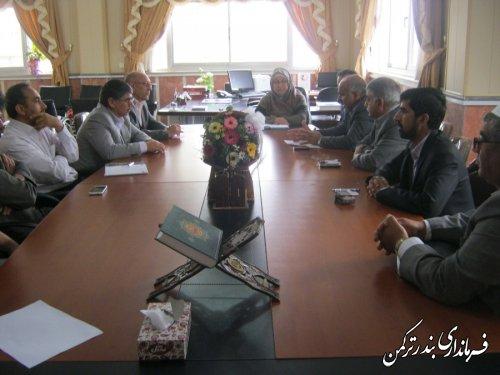 برگزاری جلسه بررسی و حل مشکلات کمبود آب در شهرستانهای ترکمن و گمیشان