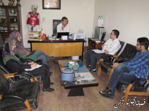 نشست مشترک حوزه مشاور جوان فرمانداری ترکمن با رئیس ورزش و جوانان
