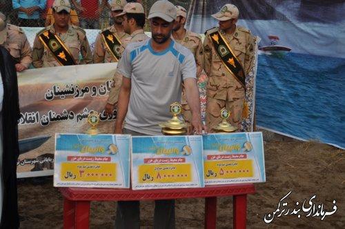 مسابقات والیبال ساحلی جام خزر در شهرستان ترکمن برگزار شد