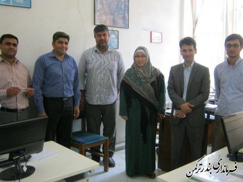 گزارش تصویری از بازدید فرماندار از شهرداری بندر ترکمن
