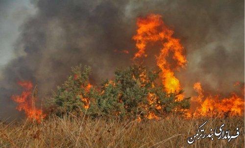 آتش در جزیره آشوراده  مهار شد