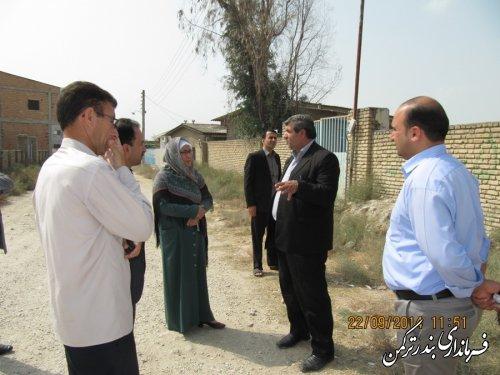 بازدید فرماندار شهرستان ترکمن از روستاهای بخش سیجوال