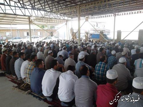 گزارش تصویری: نماز عید سعید قربان در روستای پنج پیکر