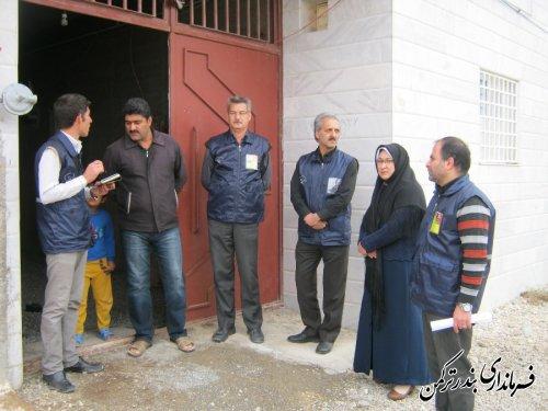بازدید فرماندار شهرستان ترکمن از اجرای سرشماری عمومی کشاورزی شهرستان
