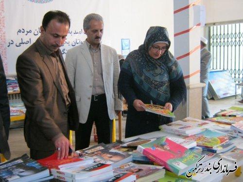 بازدید نازقلچی از نمایشگاه کتاب بندر ترکمن