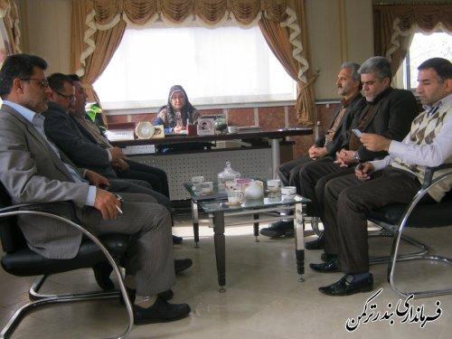 دیدار فرماندار شهرستان ترکمن با مدیر کل ثبت احوال استان