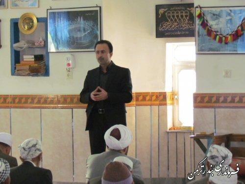 حضور بخشدار سیجوال در نماز جمعه روستای سیجوال