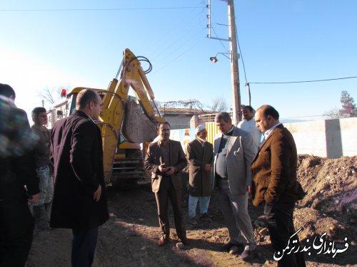 بازدید بخشدار سیجوال از مرحله اجرایی طرح هادی روستای سیجوال