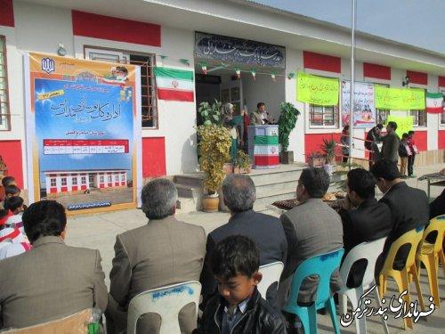 با حضور معاون فرماندار ترکمن، مدرسه 6 کلاسه روستای اسلام تپه افتتاح شد