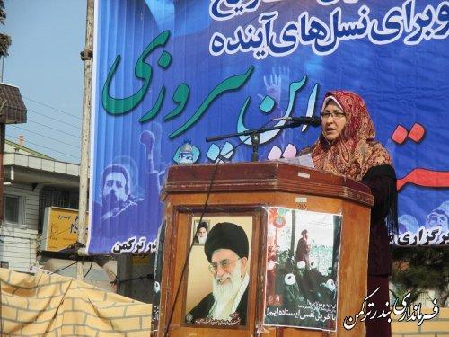 کزارش تصویری از حضور گسترده مردم بندرترکمن در راهپیمایی 22 بهمن