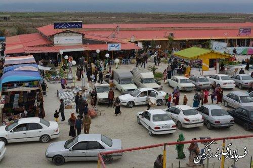 گزارش تصویری از حضور گسترده مسافران نوروزی در بندرترکمن