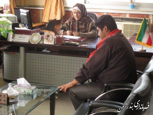 ملاقات عمومی فرماندار شهرستان ترکمن با مراجعه کنندگان