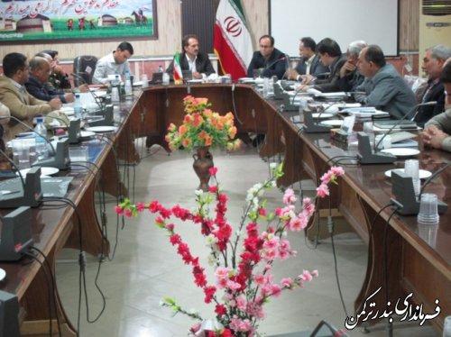 جلسه کمیسیون قاچاق کالا و ارز در بندرترکمن برگزار شد