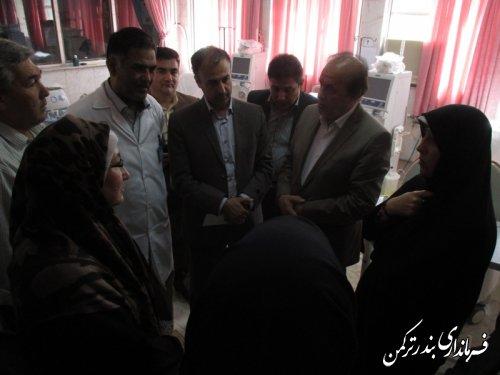 بازدید رئیس بنیاد بیماری های خاص کشور از مرکز دیالیز بیمارستان امام خمینی شهرستان ترکمن
