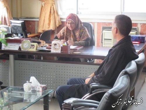 ملاقات عمومی فرماندار ترکمن با مردم شهرستان