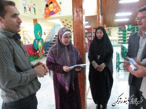 بازدید فرماندار شهرستان ترکمن از کانون پرورش فکری بندرترکمن