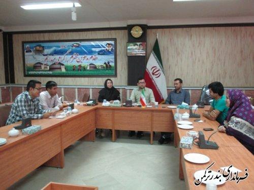 دومین جلسه اتاق فکر حوزه مشاور جوان فرمانداری ترکمن تشکیل شد