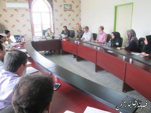 جلسه شورای آموزش و پرورش شهرستان ترکمن برگزار شد