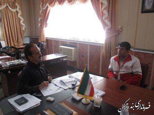 دیدار معاون فرماندار ترکمن با رئیس جمعیت هلال احمر شهرستان