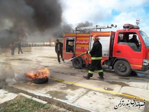 برگزاری مانور پدافند غیرعامل در شهرستان ترکمن