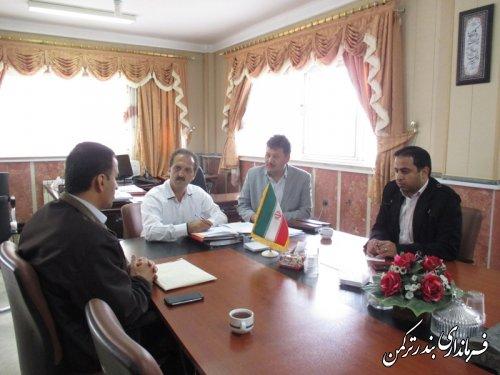 برگزاری جلسه رفع مشکل روشنایی بلوار اسکله بندر ترکمن