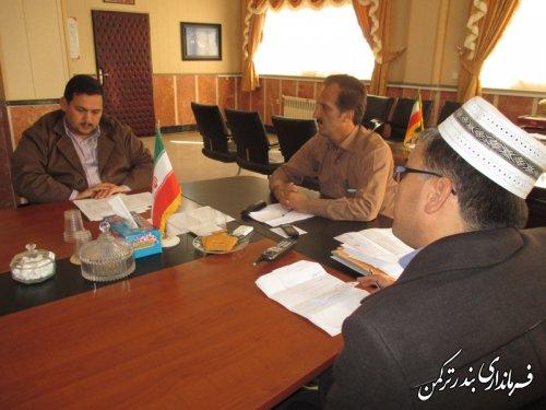 جلسه بررسی مشکلات واحدهای تولیدی شهرکهای صنعتی شهرستان ترکمن