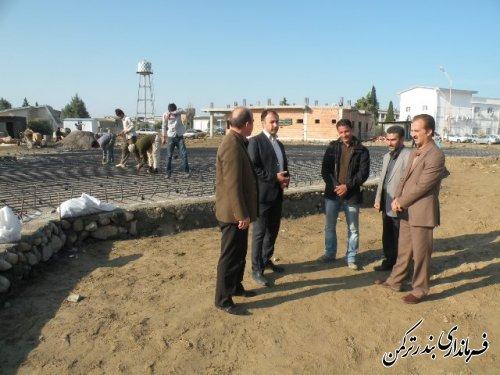 بازدید معاون فرماندار ترکمن از ساخت پروژه اورژانس جدید شهرستان