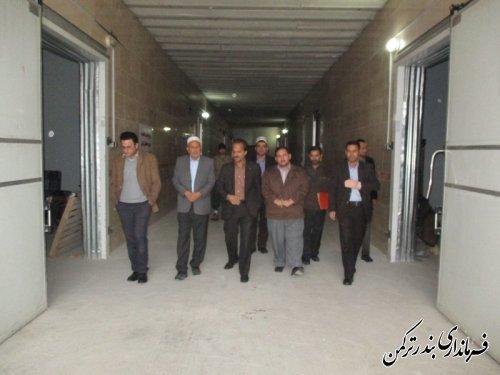 بازدید معاون فرماندار ترکمن از شهرک صنعتی پنج پیکر