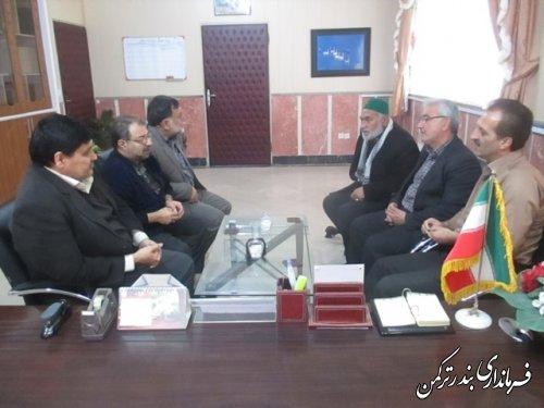 دیدار اعضای هیأت نظارت انتخابات شهرستان ترکمن با رئیس هیأت اجرایی انتخابات این شهرستان