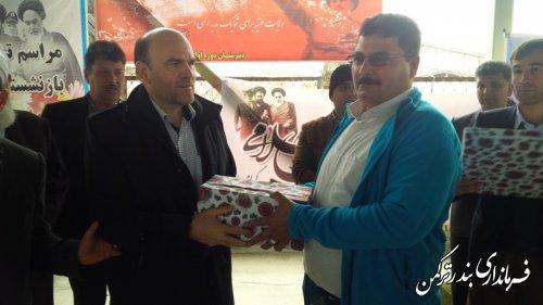 مراسم جشن پیروزی انقلاب اسلامی در روستای پنج پیکر شهرستان ترکمن  برگزار شد