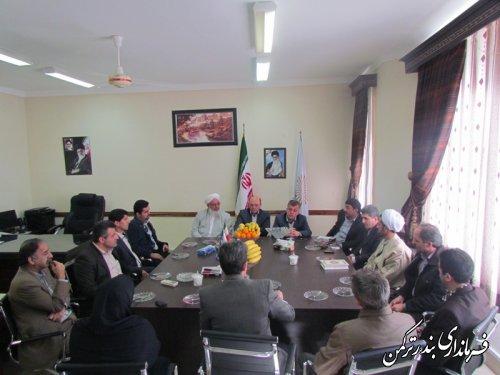 مراسم تودیع و معارفه رئیس دانشگاه پیام نور شهرستان ترکمن برگزار شد