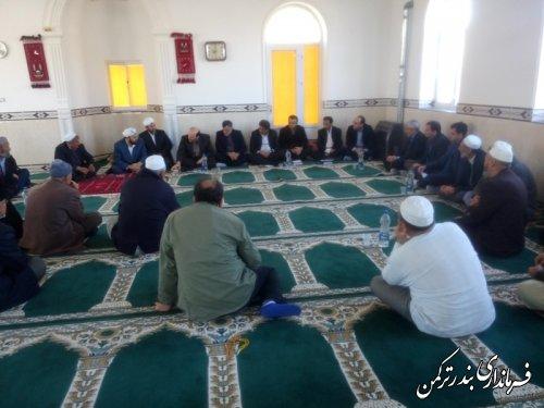 بازدید فرماندار شهرستان ترکمن از روستای نیازآباد