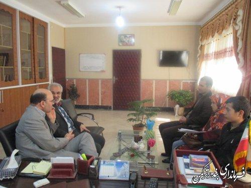 دیدار مدیر کل کانون پرورش فکری کودکان و نوجوانان استان با فرماندار شهرستان ترکمن
