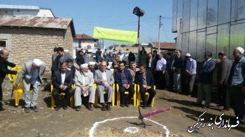 کلنگ خانه بهداشت روستای پنج پیکر به زمین زده شد