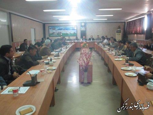 اولين جلسه شورای اداری شهرستان ترکمن در سال 95 برگزار شد