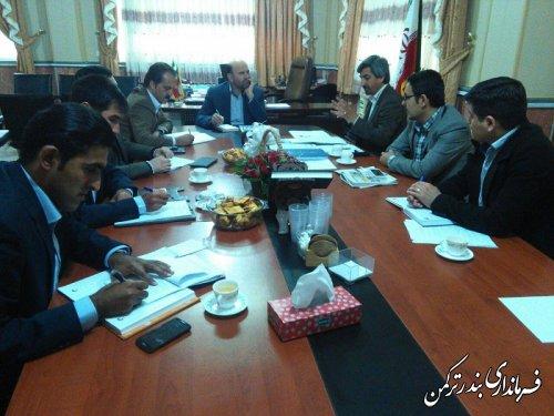 نشست هماهنگی همایش توسعه شهرستان ترکمن و شکوفایی اقتصاد مقاومتی بر پایه ایده های جوانان