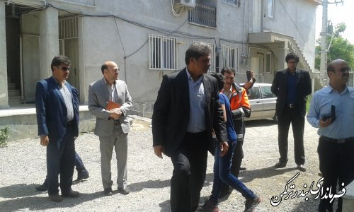بازدید فرماندار از پروژه های راه و شهرسازی شهرستان