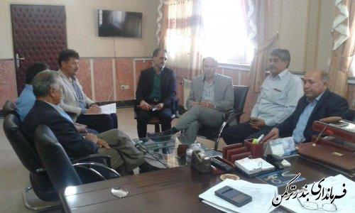 جلسه فرماندار با مدیران کارخانه تولید آرد شهرستان ترکمن برگزار شد