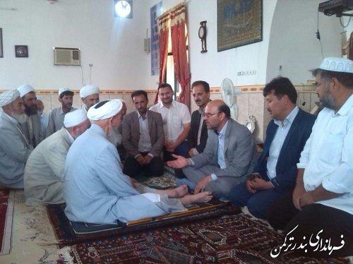 دیدار فرماندار با علما و روحانیون روستای خواجه لر