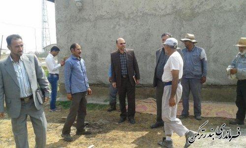 بازدید فرماندار از پروژه آسفالت روستای قره قاشلی