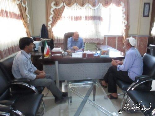 ملاقات عمومي فرماندار با مردم شهرستان ترکمن برگزار شد