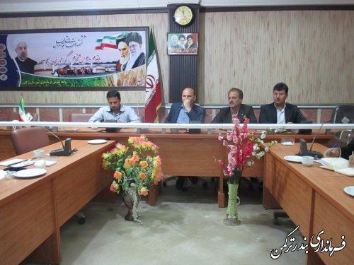 جلسه هماهنگی راهکارهای توسعه شهرستان ترکمن برگزار شد