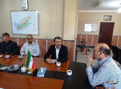 دیدار مدیرکل ثبت اسناد و املاک استان با فرماندار