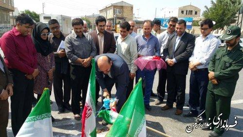 میدان سپاه شهرستان ترکمن کلنگ زنی شد