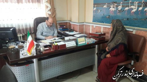 دیدار چهره به چهره فرماندار با مردم شهرستان ترکمن