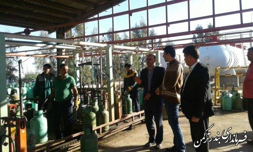 بازدید فرماندار از شرکت توزیع گاز مایع ارسا گاز