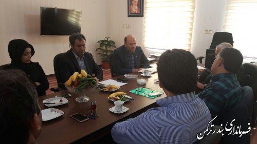 جلسه واگذاري زمين ماهيان خاوياري به شهرداري بندر ترکمن برگزار شد