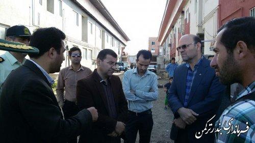 بازدید فرماندار از مسکن مهر آزادی بندر ترکمن